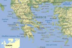 Griekenland-landkaart